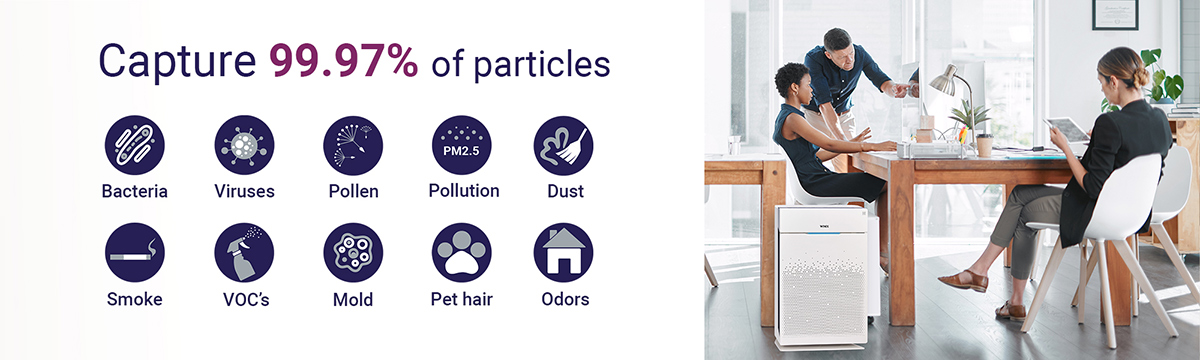 hepa filter 99,97% of the particles