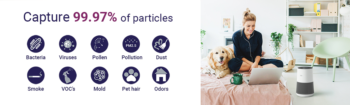 hepa filter 99,97% PARTICLES