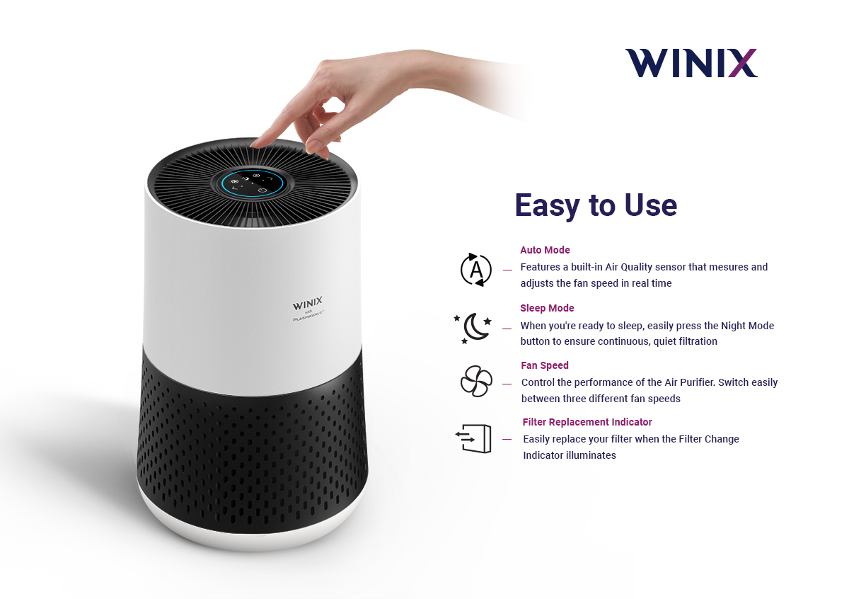 Easy to use air purifier